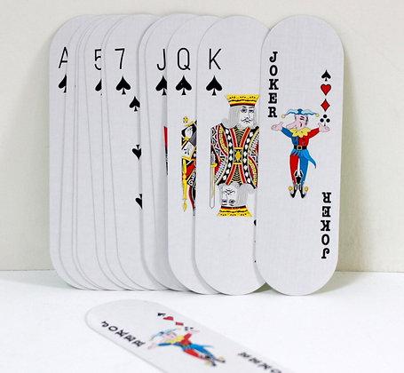 Jeu de 54 cartes longues