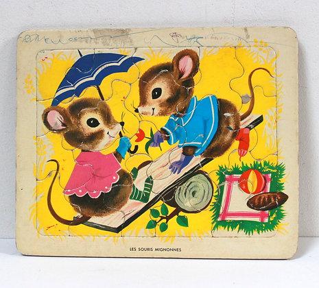 Puzzle Les souris mignonnes