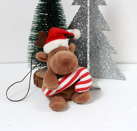 Sujet doudou renne de Noël