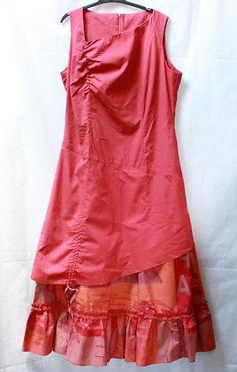Robe longue rouge orangé