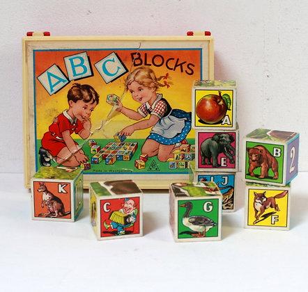 Cubes rétro ABC blocks
