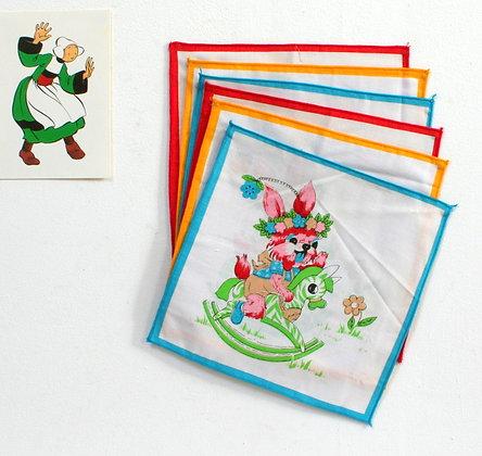 6 mouchoirs d'enfant