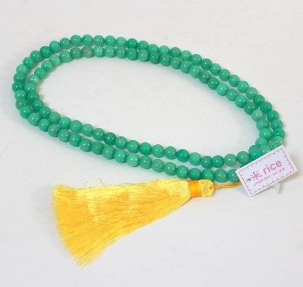 Collier Rice vert jade