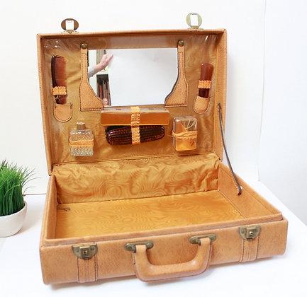 Grande valise vanity vintage