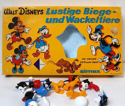 Walt Disney figurines puzzle 3D vintage