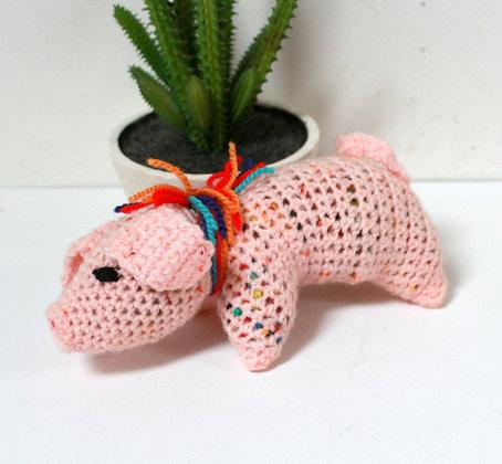 Doudou cochon au crochet