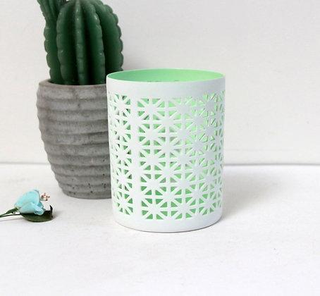 Photophore dentelle de porcelaine