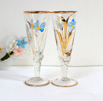 2 verres peints