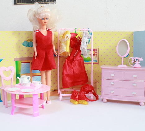 Poupée mannequin et accessoires Damart vintage