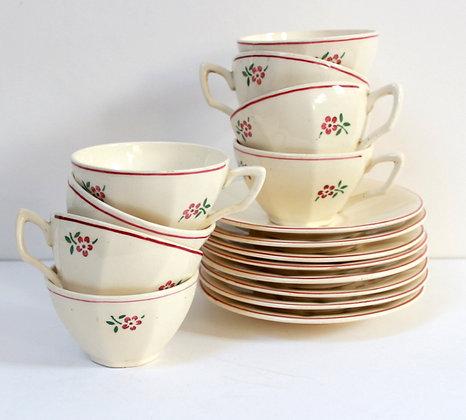 Tasses à café anciennes Digoin