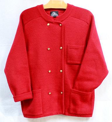 Veste en laine rouge