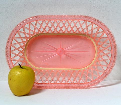 Corbeille à fruits plastique rose