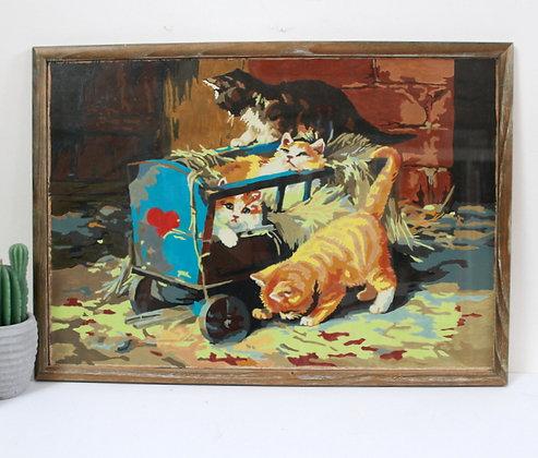 Peinture à l'huile Les chatons