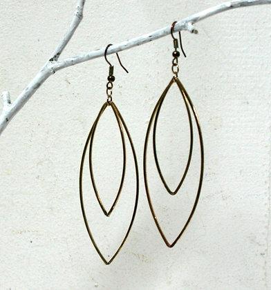 Boucles à pendants double ovales