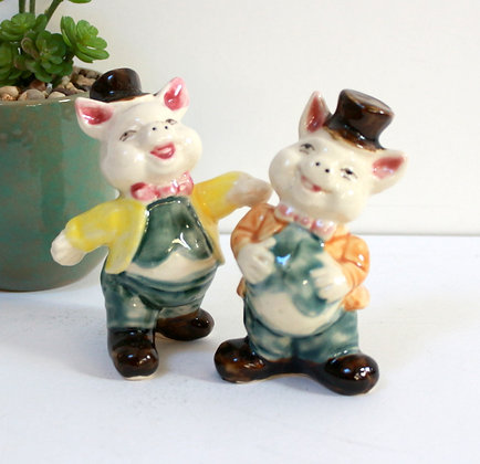 Figurines anciennes Cochons