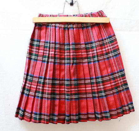 Jupe écossaise plissée