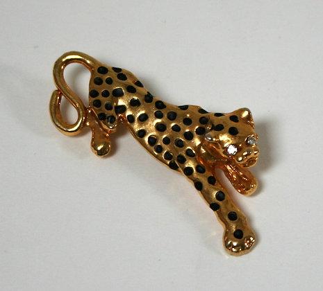Broche panthère jaguar 1980