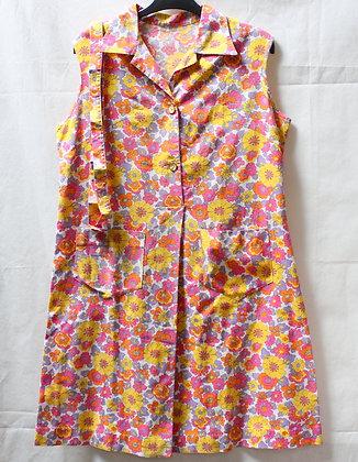 Robe blouse multicolore 70's
