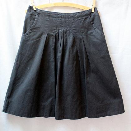 Jupe noire toile de coton