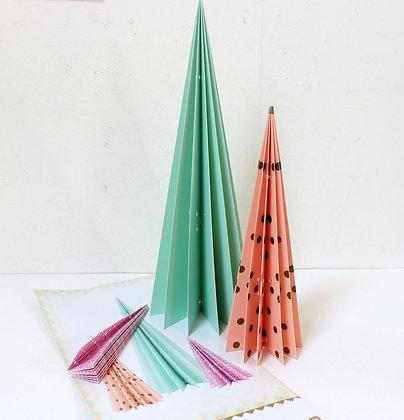 Sapins de table esprit origami scandinave