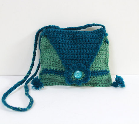 Mini sac tricot vert