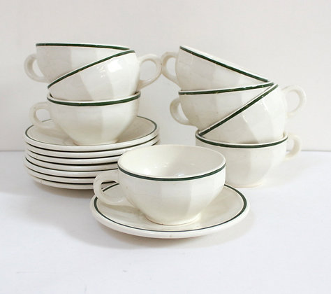 Tasses bistrot blanches