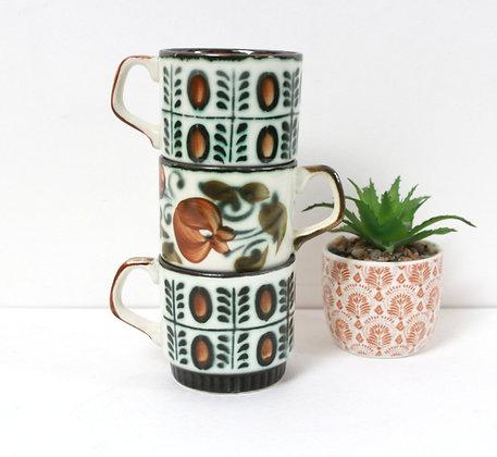 Tasses à café Boch vintage