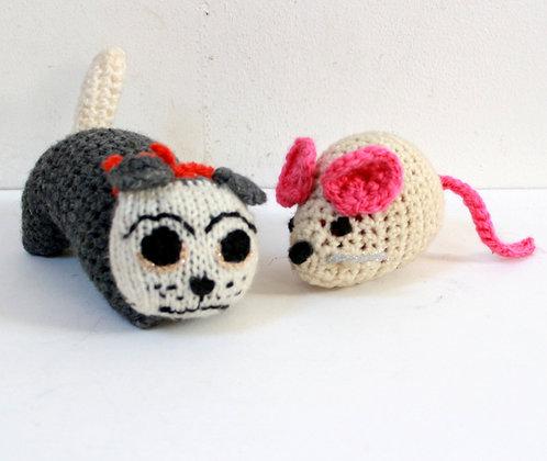 Doudous chat et souris