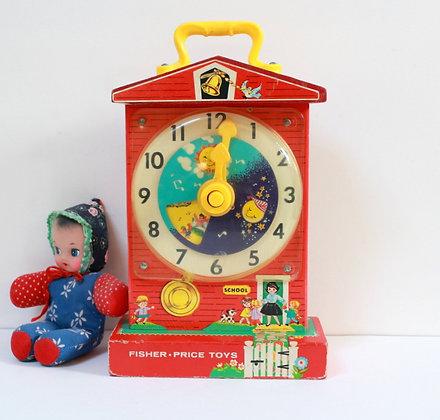 Music Box Teaching clock Fisher Price