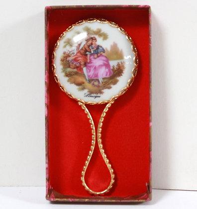 Mini miroir à main Limoges