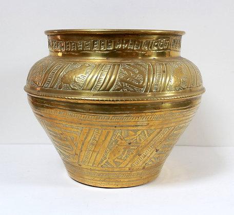 Grand cache-pot en laiton