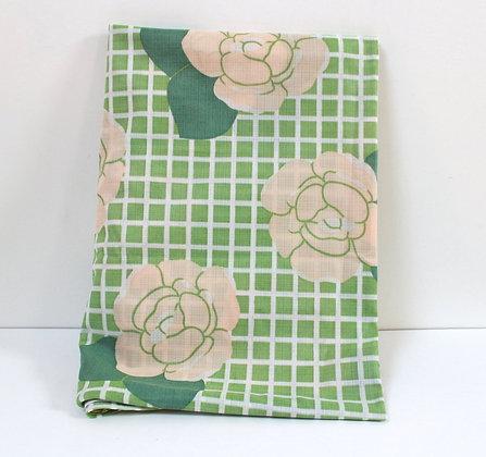 Nappe rectangulaire carreaux et fleurs