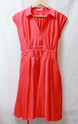 Robe couleur corail style rétro