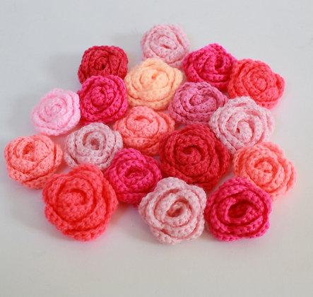 Fleurs crochetées roses