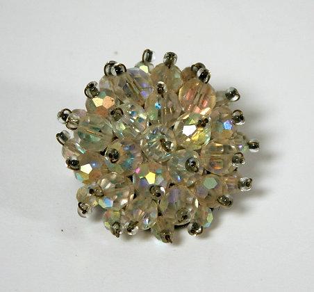 Belle broche en cristal ancienne