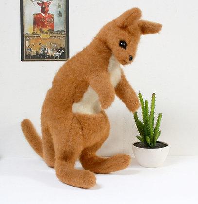 Grande peluche kangourou vintage