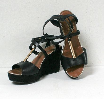 Sandales chic à semelles compensées
