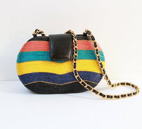 Petit sac vintage multicolore