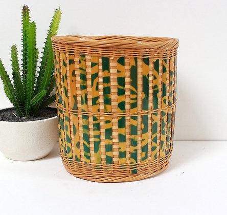 Cache-pot en bambou teinté