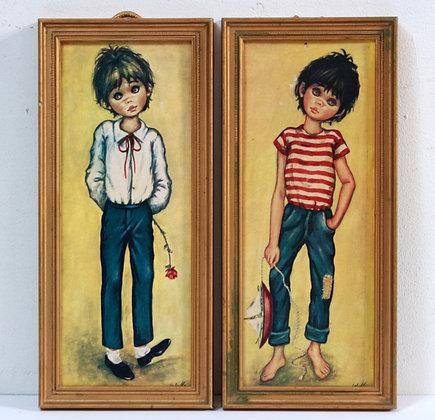 2 tableaux d'enfant par Idylle