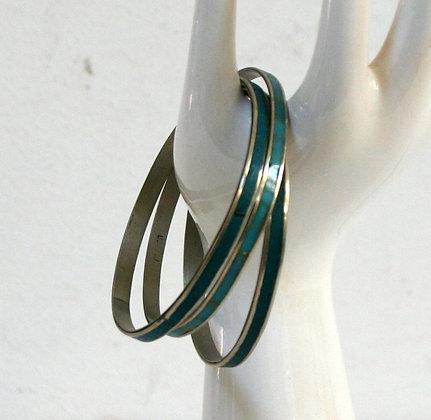 Trois bracelets  turquoise