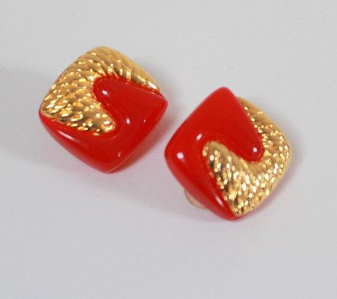 Clips rouge et dorés 80'