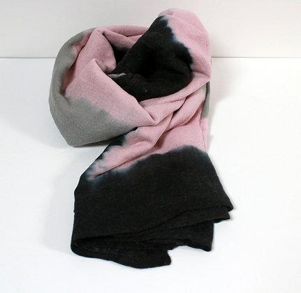 Foulard tie & dye rose