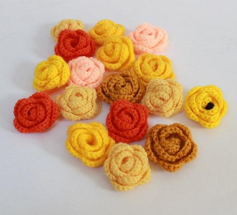 Fleurs crochetées jaunes