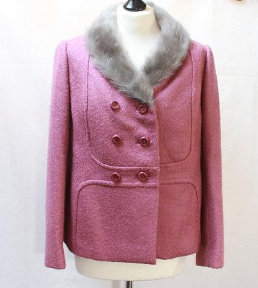 Superbe veste vintage en laine rose