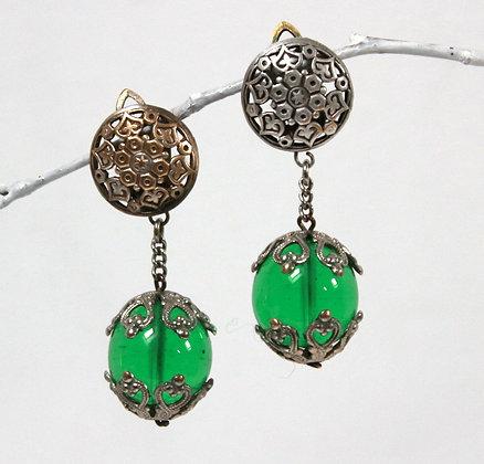Clips à pendants verts