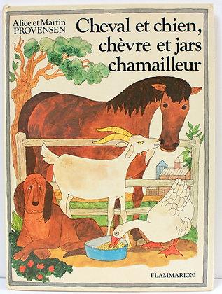 Cheval et chien, chèvre et jars chamailleur