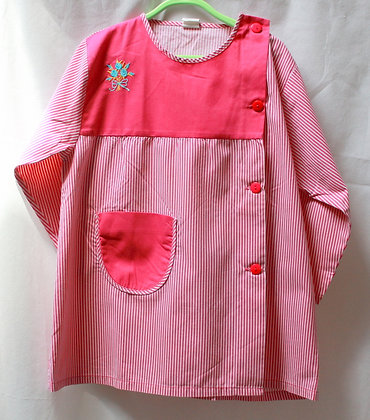 Blouse à rayures roses 1980