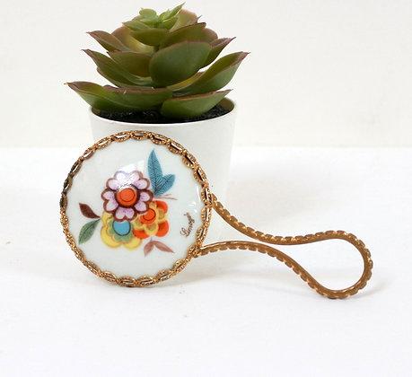 Mini miroir fleurettes