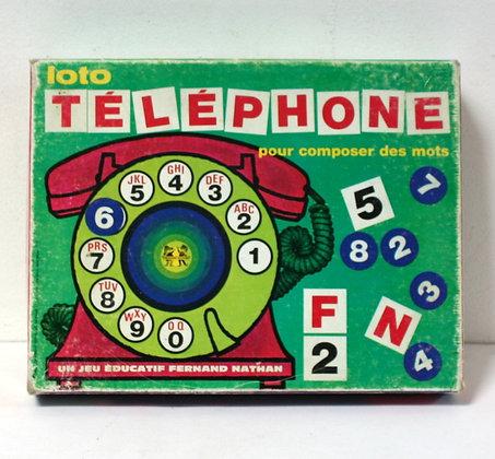 Loto Téléphone pour composer des mots